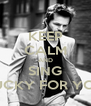 KEEP CALM AND SING LUCKY FOR YOU - Personalised Poster A4 size