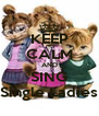 KEEP CALM AND SING Single Ladies - Personalised Poster A4 size