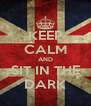 KEEP CALM AND SIT IN THE DARK - Personalised Poster A4 size