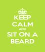 KEEP CALM AND SIT ON A BEARD - Personalised Poster A4 size
