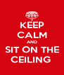 KEEP CALM AND SIT ON THE CEILING  - Personalised Poster A4 size