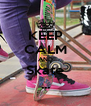 KEEP CALM AND Skate ... - Personalised Poster A4 size