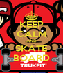 KEEP CALM AND SKATE BOARD - Personalised Poster A4 size