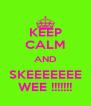 KEEP CALM AND SKEEEEEEE WEE !!!!!!! - Personalised Poster A4 size