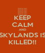 KEEP CALM AND SKYLANDS IS KILLED!! - Personalised Poster A4 size