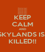 KEEP CALM AND SKYLANDS IS.. KILLED!! - Personalised Poster A4 size
