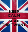 KEEP CALM AND SLAP THE TWUNT - Personalised Poster A4 size