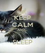 KEEP CALM AND...  SLEEP - Personalised Poster A4 size