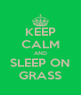 KEEP CALM AND SLEEP ON GRASS - Personalised Poster A4 size
