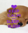 KEEP CALM AND SLEEP,  SLEEP - Personalised Poster A4 size