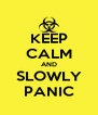 KEEP CALM AND SLOWLY PANIC - Personalised Poster A4 size
