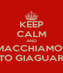 KEEP CALM AND SMACCHIAMOCI 'STO GIAGUARO - Personalised Poster A4 size