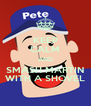 KEEP CALM AND SMASH MARTIN WITH A SHOVEL - Personalised Poster A4 size