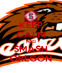 KEEP CALM AND SMASH OREGON - Personalised Poster A4 size