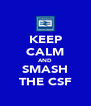 KEEP CALM AND SMASH THE CSF - Personalised Poster A4 size