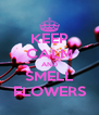 KEEP CALM AND SMELL FLOWERS - Personalised Poster A4 size