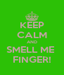 KEEP CALM AND SMELL ME  FINGER! - Personalised Poster A4 size