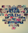 KEEP CALM AND smile ♥ - Personalised Poster A4 size