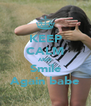 KEEP CALM AND Smile Again babe - Personalised Poster A4 size
