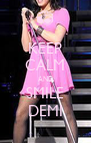 KEEP CALM AND SMILE DEMI - Personalised Poster A4 size