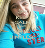 KEEP CALM AND SMILE DIMPLES(: - Personalised Poster A4 size