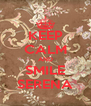 KEEP CALM AND SMILE SERENA - Personalised Poster A4 size