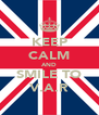 KEEP CALM AND SMILE TO V.A.R - Personalised Poster A4 size