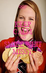 KEEP CALM AND SMILE WHIT MISSY - Personalised Poster A4 size