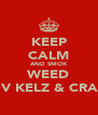 KEEP CALM AND SMOK WEED WIV KELZ & CRAIG - Personalised Poster A4 size