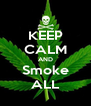 KEEP CALM AND Smoke ALL - Personalised Poster A4 size