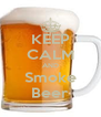 KEEP CALM AND Smoke Beer - Personalised Poster A4 size