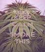 KEEP CALM AND SMOKE THIS - Personalised Poster A4 size