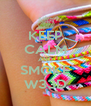 KEEP CALM AND SMOKE W33D - Personalised Poster A4 size