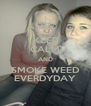 KEEP CALM AND SMOKE WEED EVERDYDAY - Personalised Poster A4 size