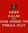 KEEP CALM AND SMOKE WEED THEN FREAK OUT - Personalised Poster A4 size