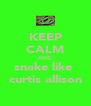KEEP CALM AND snake like  curtis allison - Personalised Poster A4 size
