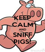 KEEP CALM AND SNIFF PIGS! - Personalised Poster A4 size