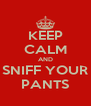 KEEP CALM AND SNIFF YOUR PANTS - Personalised Poster A4 size