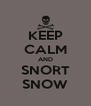 KEEP CALM AND SNORT SNOW - Personalised Poster A4 size
