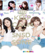 KEEP CALM AND  SNSD  SONE  - Personalised Poster A4 size