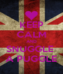 KEEP CALM AND SNUGGLE  A PUGGLE - Personalised Poster A4 size