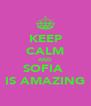KEEP CALM AND SOFIA  IS AMAZING - Personalised Poster A4 size