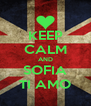 KEEP CALM AND SOFIA TI AMO - Personalised Poster A4 size