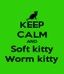 KEEP CALM AND Soft kitty Worm kitty - Personalised Poster A4 size