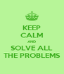 KEEP CALM AND SOLVE ALL THE PROBLEMS - Personalised Poster A4 size