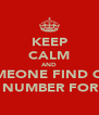 KEEP CALM AND SOMEONE FIND OUT THE NUMBER FOR 911 - Personalised Poster A4 size