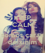KEEP CALM AND somos caras de xinim - Personalised Poster A4 size