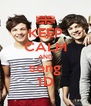 KEEP CALM AND song 1D - Personalised Poster A4 size