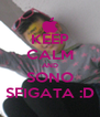 KEEP CALM AND SONO SFIGATA :D - Personalised Poster A4 size