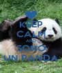 KEEP CALM AND SONO UN PANDA - Personalised Poster A4 size